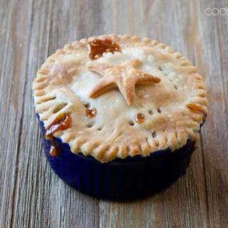 Individual Butterscotch Apple Pie