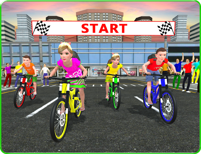 Kids School Time Bicycle Race Android 6