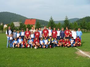 Photo: 2005 Pioniri  Sa vršnjacima iz NK Risnjaka (Lokve) Na izletu u Lokvama 26.6.2005.