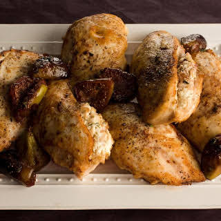 Chicken with Goat Cheese and Figs.