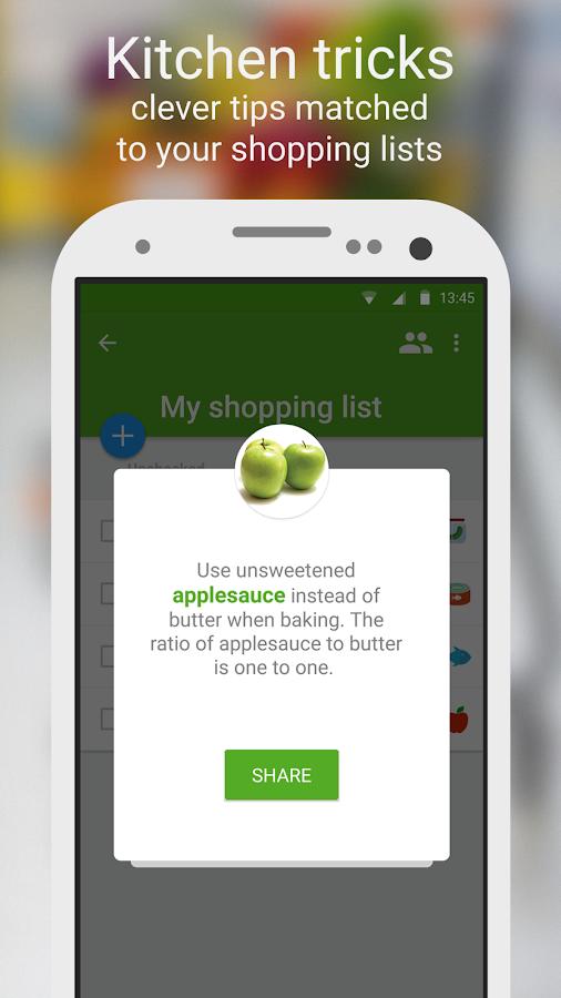 Shopping list - Listonic- screenshot