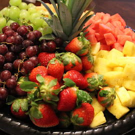 Fruit Tray by Rohan Jackson - Food & Drink Fruits & Vegetables ( pineapple, strawberry, watermelon, grapes )