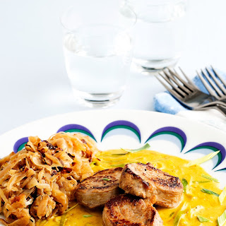 Pork Tenderloin With Curry Sauce.