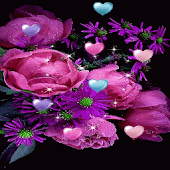 Flowers Hearts Live Wallpaper