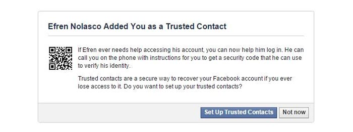 trusted contacts notification