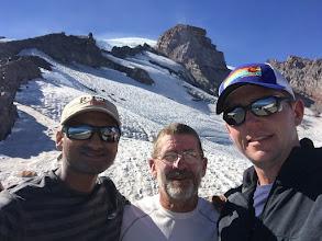 Photo: Harsha, Mark and Me at Camp Muir