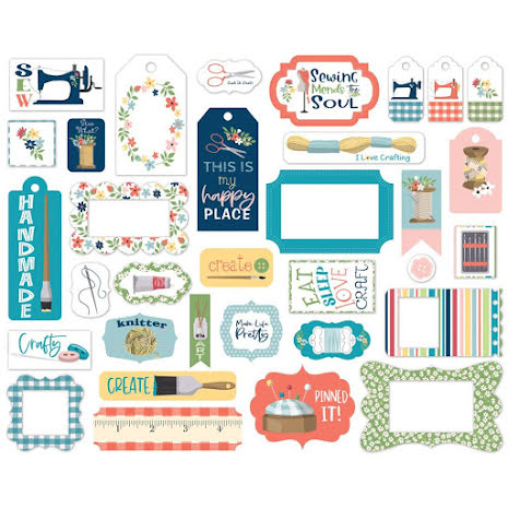 Carta Bella Craft & Create Cardstock Die-Cuts 33/Pkg - Frames & Tags