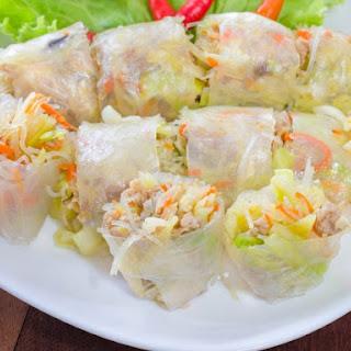 Thai-Style Chicken Spring Rolls.