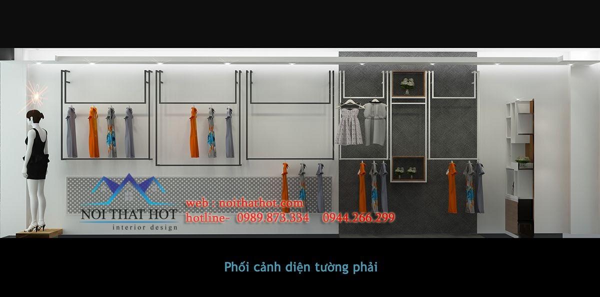 thiết kế shop thời trang 33m2 tại long biên