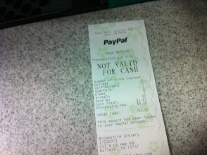 Photo: My reciept verifying that it added to my PayPal account!