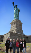 Photo: Kare Kits Team Trip to NY City - Rachel Hinckley, Chloe D'Eon, Lauren Fleury, A va D'Eon, Kylee McCumber and Mia Losey at the Statue of Liberty.
