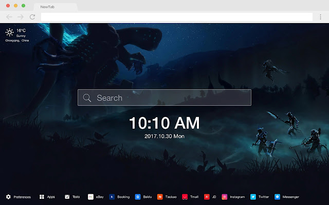 Warframe Pop Game HD New Tabs Theme