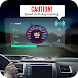 GPSスピードメーター:車はディスプレイを上に向け、スピード