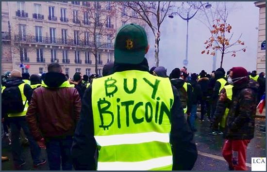 gilets- jaunes- manifestation - bitcoin