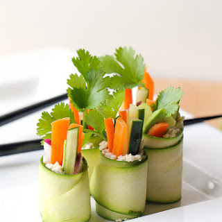 Raw Zucchini Sushi Rolls