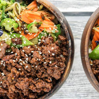 Healthy Korean Ground Beef with Vegetables.
