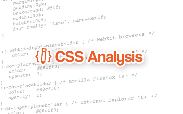CSS Analysis chrome extension
