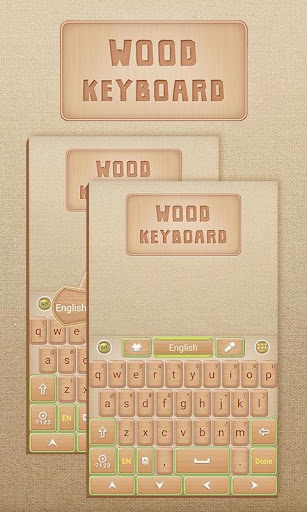 Wood GO Keyboard Theme Emoji