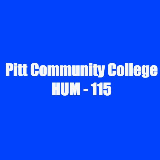 PCC HUM - 115 Study Terms