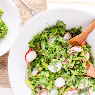 Springtime Asparagus Salad with Lemon Hemp Dressing.