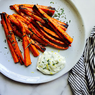 Rosemary Carrot Fries + Herb Garlic Aioli