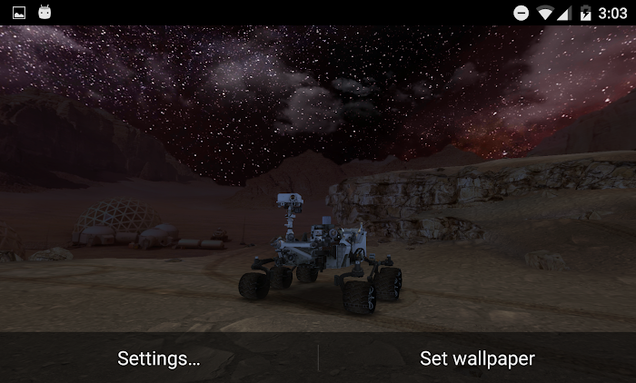 My Mars (3D Live Wallpaper)- screenshot