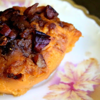 Bourbon Sweet Potatoes with Praline Topping
