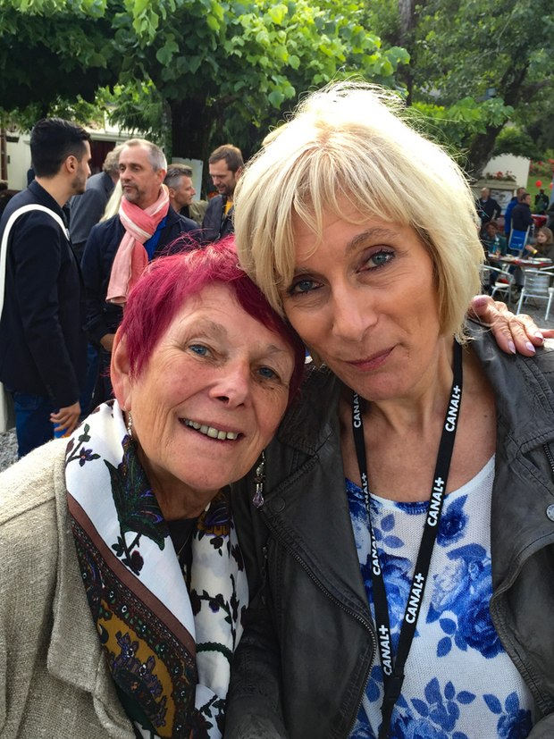 Nancy with Andrea Bauer, head programmer of the Trickfilm Festival Stuttgart