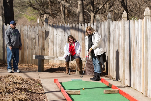 mini golf at Adventure Landing in Raleigh