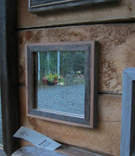 Photo: Weathered and fresh faces all from Laberge salvaged fir.  Mirrors are also salvaged so have a few blemishes and minor scratches.  Wood is sanded lightly and coated so it can be wiped clean.