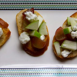 Apple, Grape & Goat Cheese Crostini's
