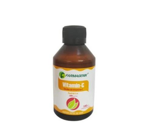 Vitamin-C 180Ml Jarabe Producto de Farmagenik, contiene Ácido Ascórbico