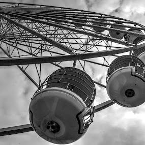 Big Wheel by Doug Faraday-Reeves - Black & White Street & Candid ( big wheel )