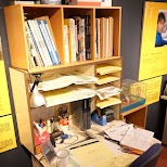an animator's desk at Suginami Animation Museum in Tokyo, Tokyo, Japan