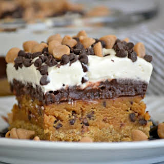 Peanut Butter Cookie Dough Dream Bars.