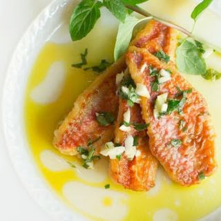 Marinated Fish with Vinegar and Mint.