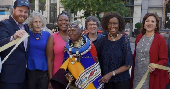 Local artist Esther Mahlangu has been honoured with a mural in New York City.