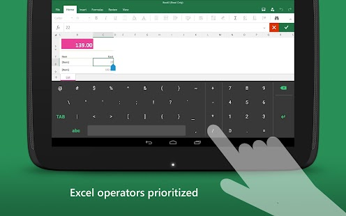 Keyboard for Excel- screenshot thumbnail