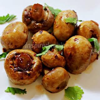 Chili Garlic Mushrooms.