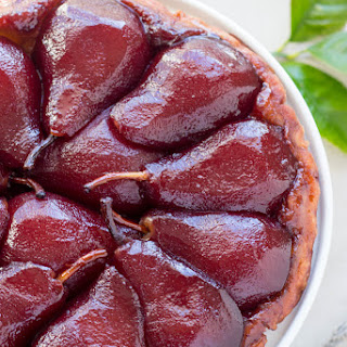 Red Wine Poached Pear Tarte Tatin Recipe