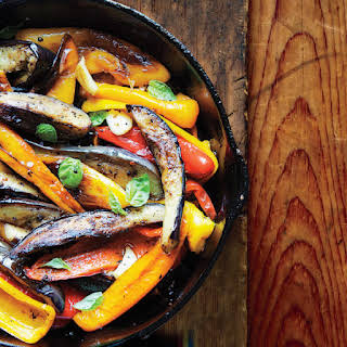 Spiced Peppers and Eggplant.
