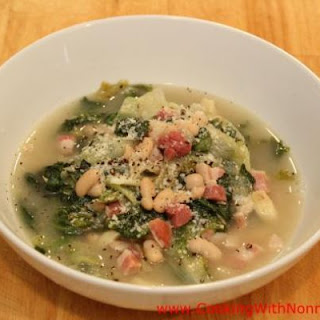 Escarole with Beans and Pancetta.