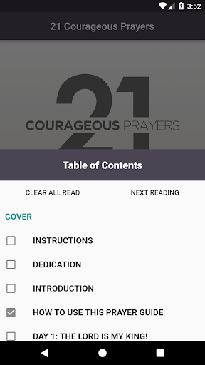 Screenshot for 21 Courageous Prayers in United States Play Store