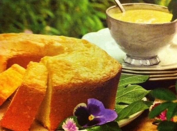 Buttermilk Pound Cake With Custard Sauce Recipe