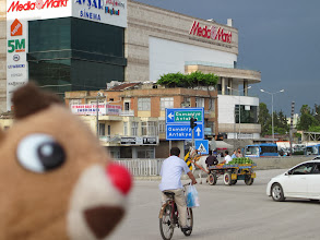 Photo: Let's take the horse-drawn cart to the Media Mart at the mega-mall!