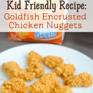 Goldfish Encrusted Chicken Nuggets
