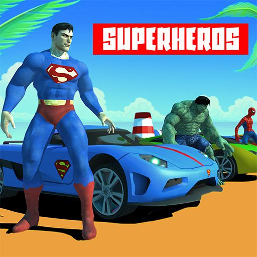 Superhero Car Super Stunts Driving Simulator