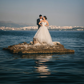 Alone by Zeljko Marcina - Wedding Bride & Groom ( love, wedding, croatia, split, bride, groom )