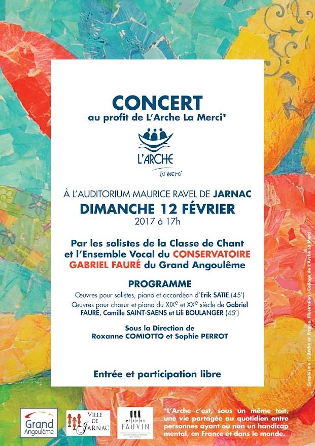 Concert au profit de L'Arche La Merci 2017