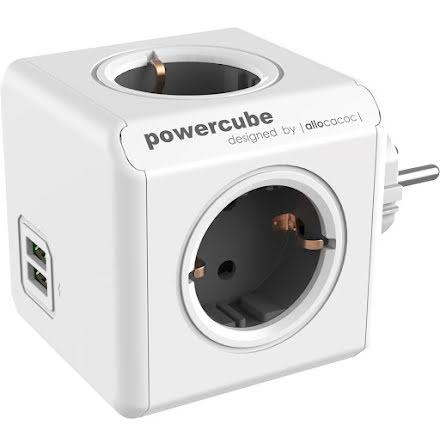 Utbyggnad Powercube 4uttag2USB